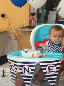 Nautical 1st Birthday by Happy Family Blog: Cake Time