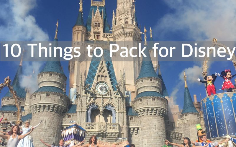 10 Things to Pack for Disney with Kids