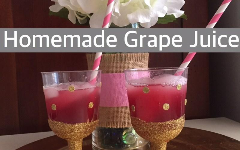 Homemade Grape Juice - Happy Family Blog