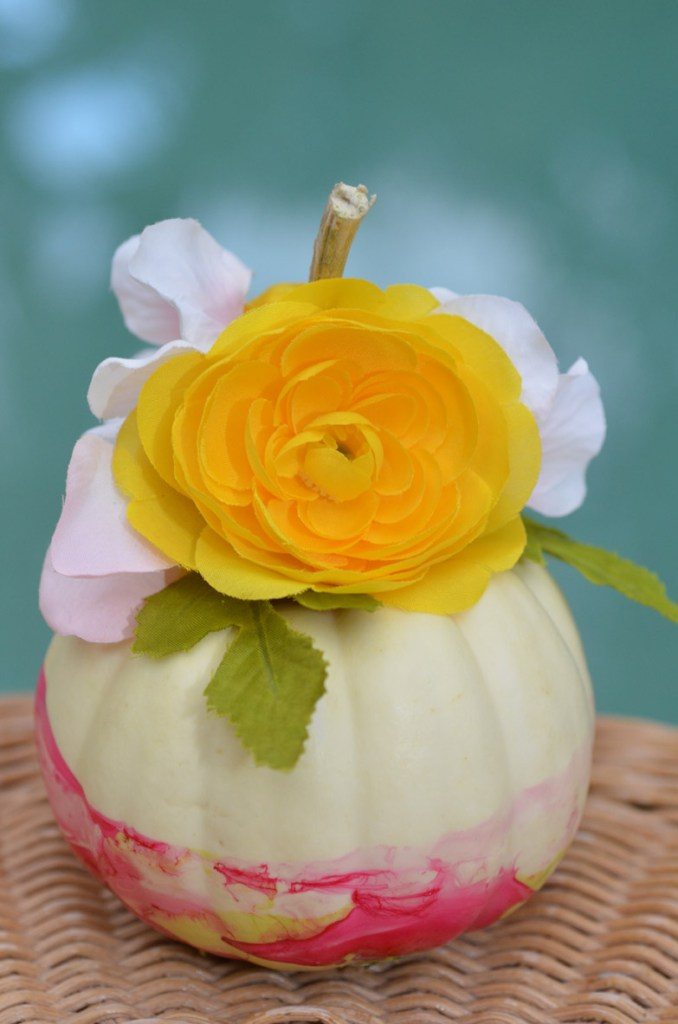 Marbleized Floral Pumpkins by Happy Family Blog Our Marbleized Floral Pumpkins are a great project for all skill levels. These use nail polish and flowers to add pops of color to your fall decor.