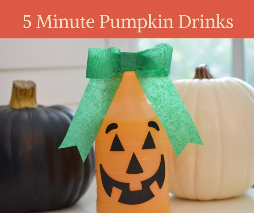 5 Minute Pumpkin Drinks by Happy Family Blog