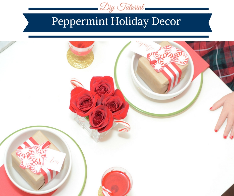 DIY Peppermint Holiday Decor by Happy Family Blog