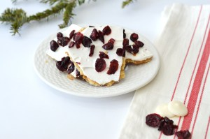 Recipe for Cranberry Bliss Toffee by Happy Family Blog