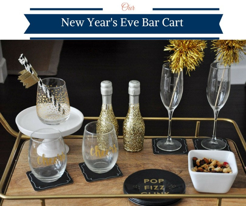 New Year's Eve Bar Cart by Happy Family Bloga