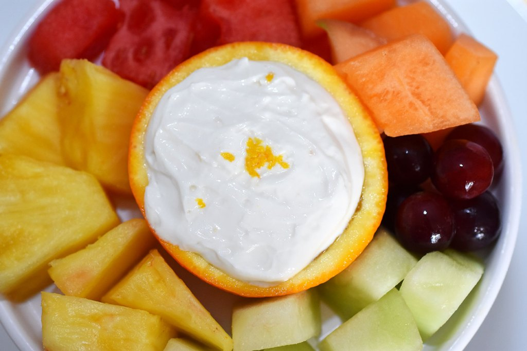 Healthy Citrus Creamsicle Fruit Dip by Happy Family Blog, fruit dip recipe