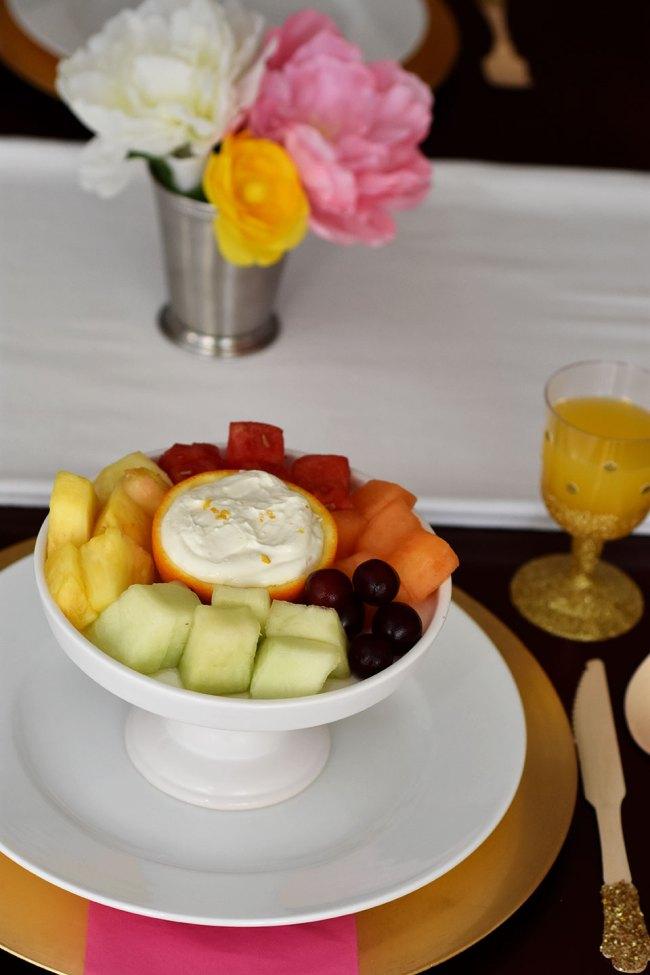 fruit orange healthy fruit dip