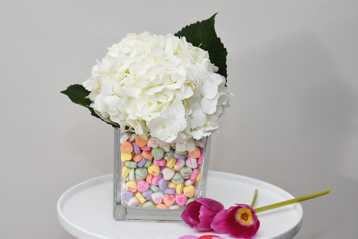 DIY Candy Heart Vase