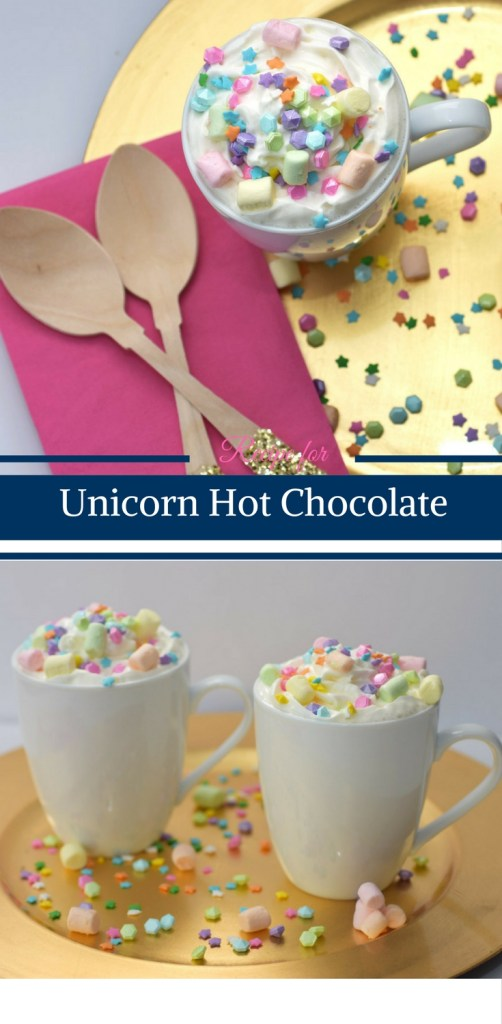 Recipe for Unicorn Hot Chocolate by Happy Family Blog