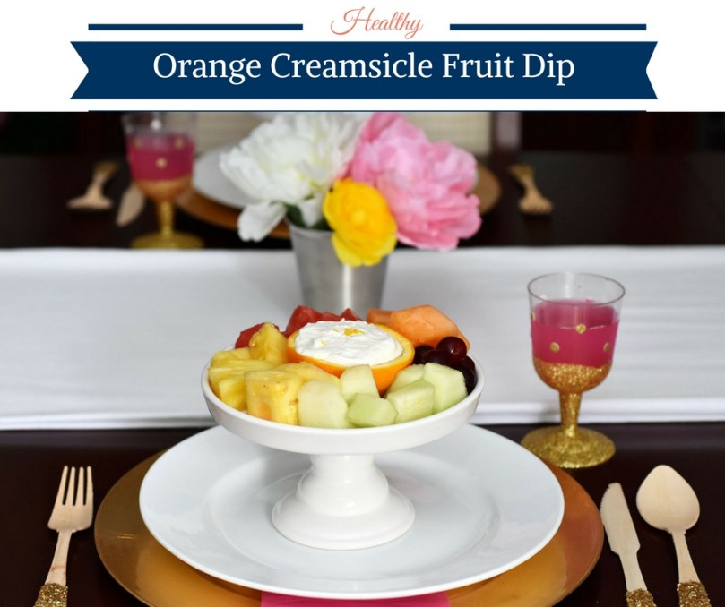 Healthy Orange Creamsicle Fruit Dip by Happy Family Blog