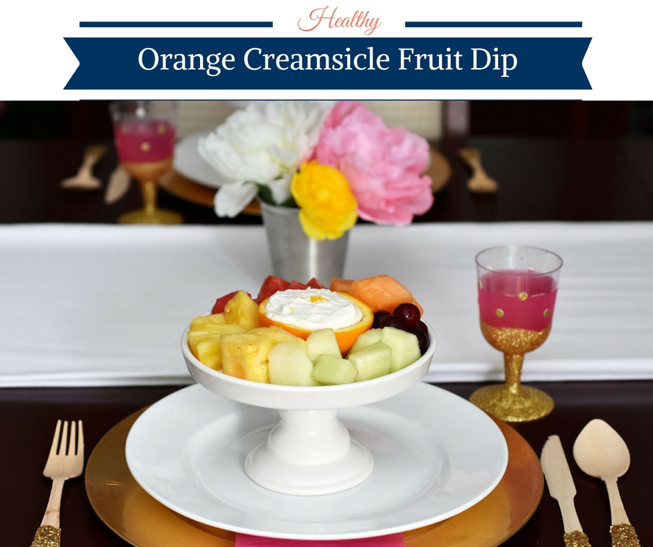 Healthy Orange Creamsicle Fruit Dip