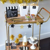 Popcorn and Candy Bar for Family Movie Night