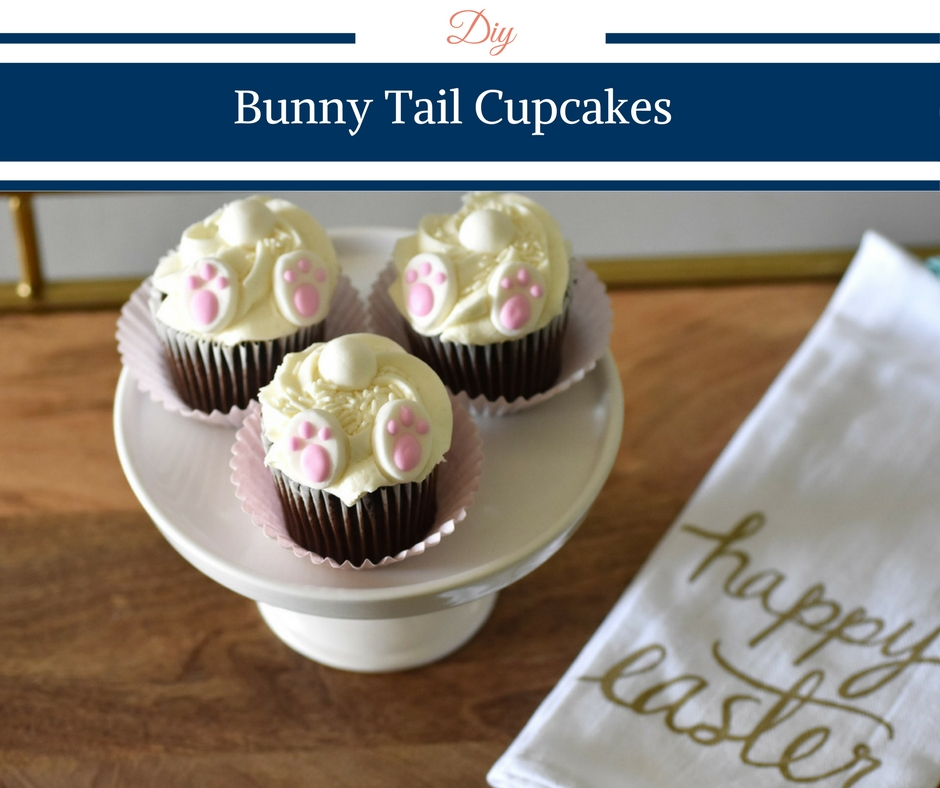 Easter Bunny Tail Cupcakes