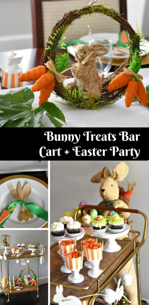 Bunny Treats Bar Cart and Easter Party by Happy Family Bloga