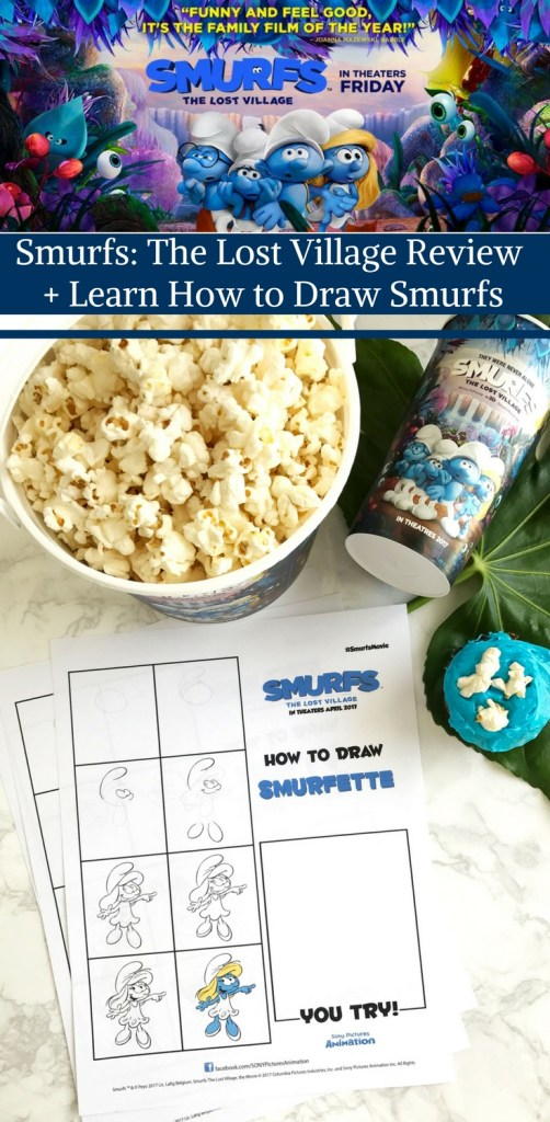 Smurfs- The Lost Village Review + Learn How to Draw Smurfs by Happy Family Blog