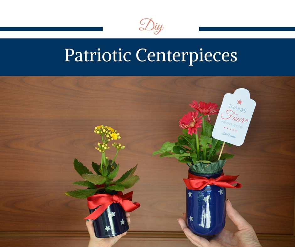 DIY Patriotic Centerpieces