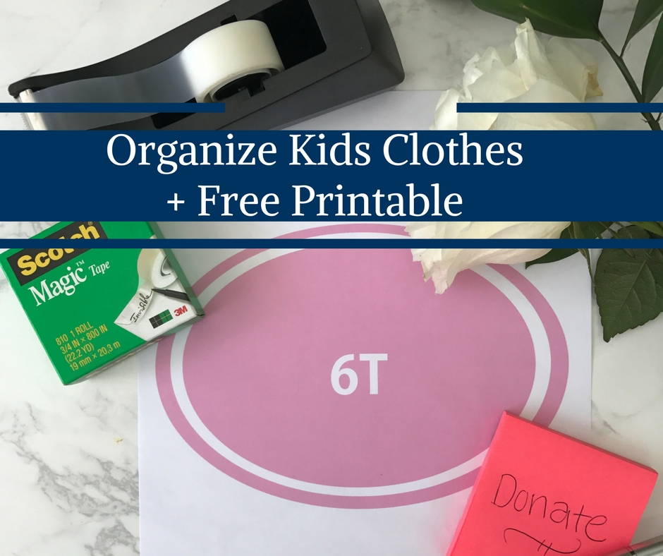 Organize Kids Clothes by Happy Family Blog