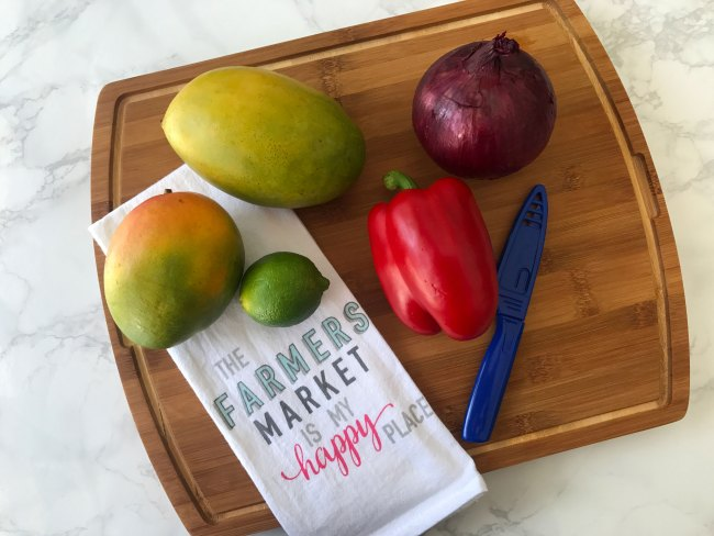 4 Ingredient Mango Salsa Recipe by Happy Family Blog