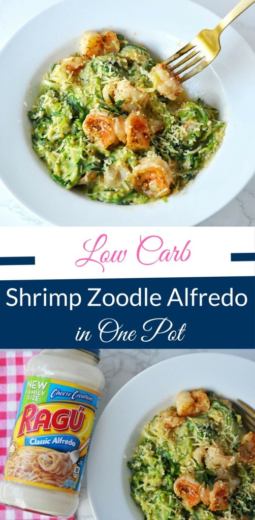 Low Carb Shrimp Zoodle Alfredo in One Pot by Happy Family Blog (1)