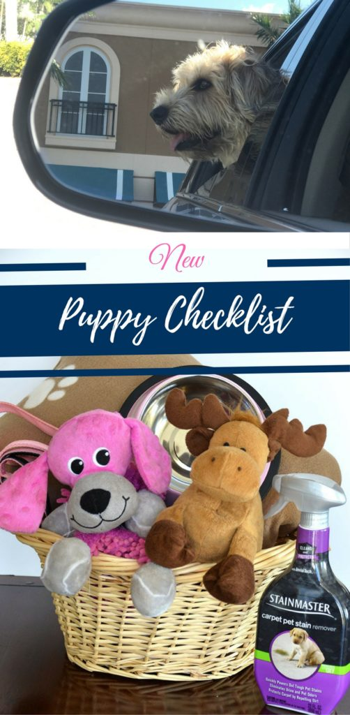 New Puppy Checklist by Happy Family Blog