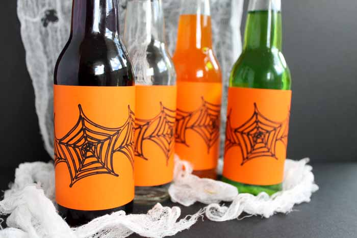 Halloween Bottle Labels, halloween drinks