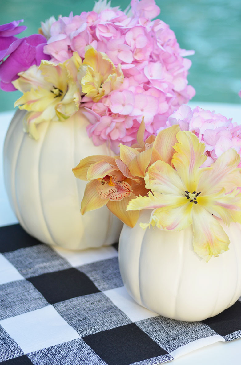 Diy Pumpkin Flower Arrangements Happy Family Blog