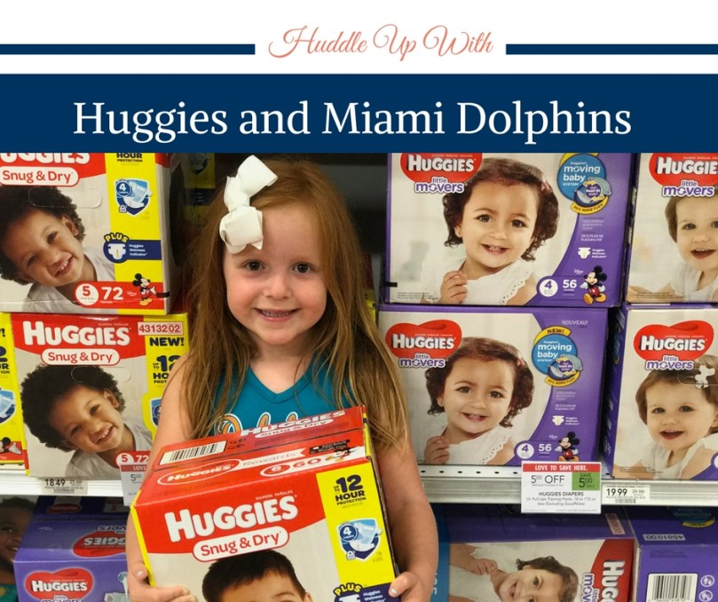 Huddle Up, Huggies, Diaper Need, Miami Dolphins Diaper Need