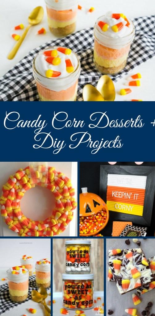 Candy Corn Desserts, Candy Corn Treats, Desserts with Candy Corn, DIY Projects with Candy Corn, Candy Corn DIY Project