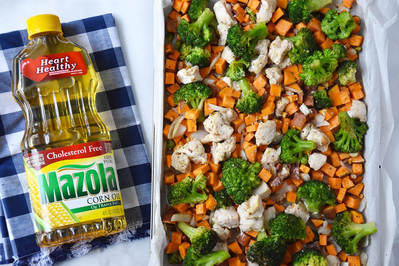 Chicken Broccoli And Sweet Potato Sheet Pan Dinner  Happy -3844