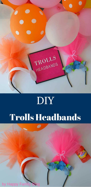 diy trolls headband