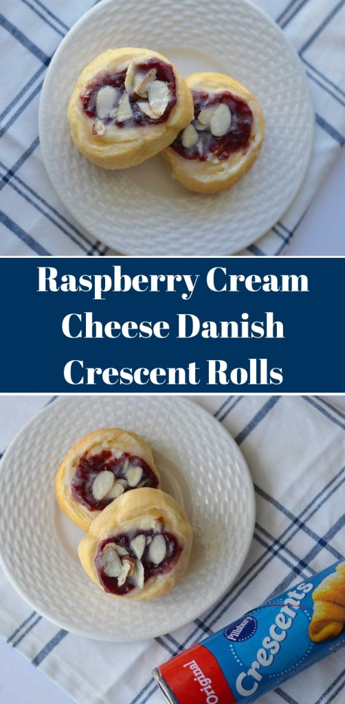 Raspberry Cream Cheese Danish Crescent Rolls