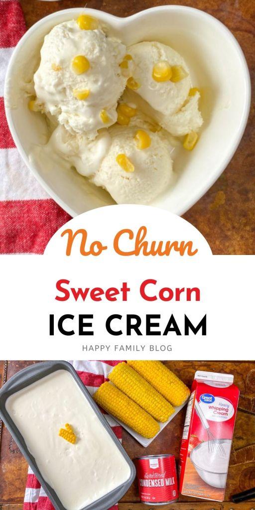 Sweet Corn Ice Cream Ingredients
