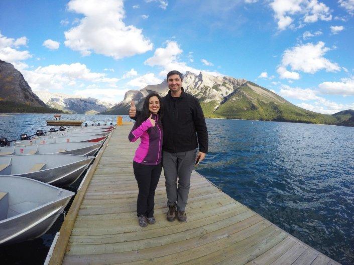 beautiful lake minnewanka canada