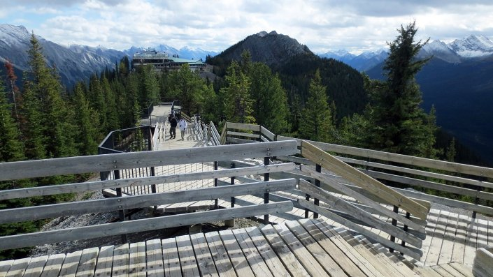spectacular view on sulphur mountain
