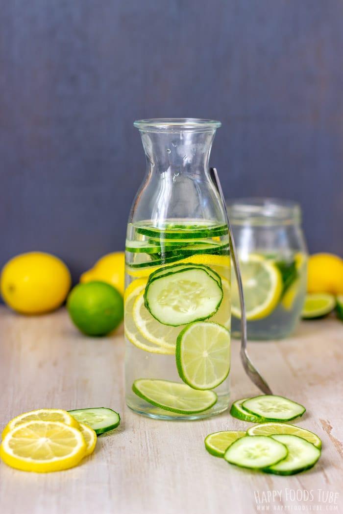 Infuse Water Lemon : infuse, water, lemon, Lemon, Cucumber, Water, Happy, Foods