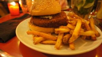 Le Chicken Burger, bon mais un peu sec !