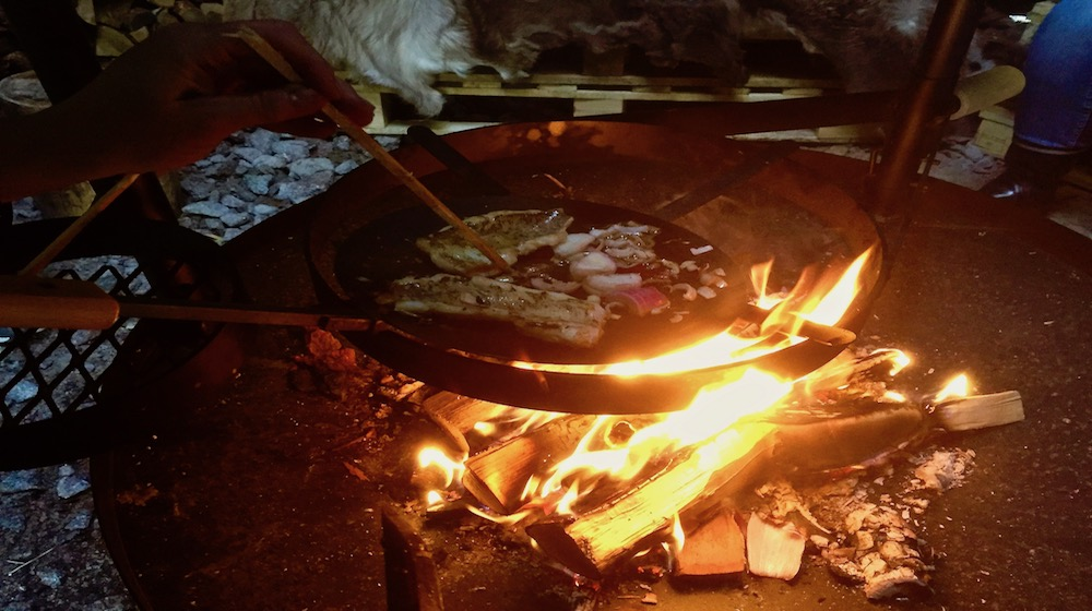 Happy-Fox-Fishing-campfire-fish-dinner