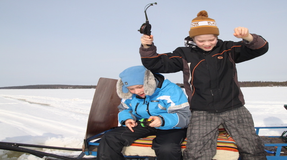 Ice Fishing Trip to the Ounasjoki River, 3 hours