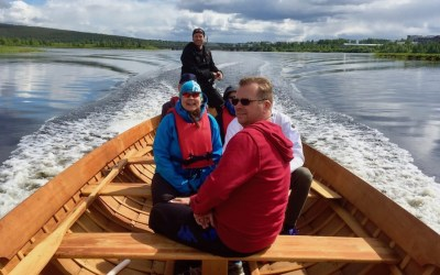 Arctic Sightseeing Boat Trip to the Ounasjoki River and Kemijoki River, 1 h
