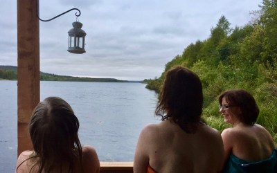 Floating Sauna and Swimming in the Ounasjoki River, 3 hours