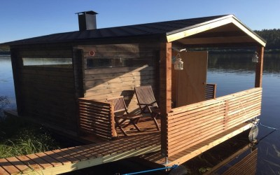 Floating Sauna and Swimming in the Ounasjoki River, 2 hours