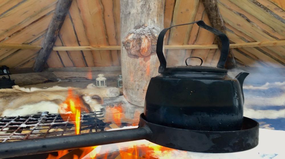 Happy-Fox-Acrtic-Reindeer-Adventure-coffee-pan-open-fire