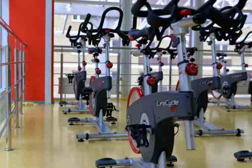 spinning bikes at gym