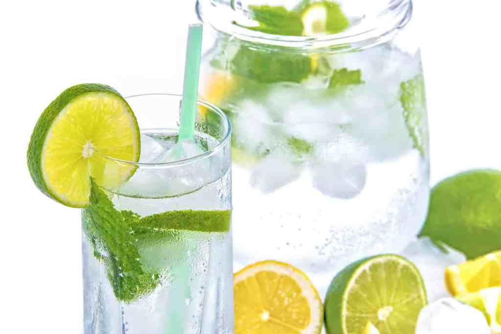Lime mint infused water great to detox and tastes so refreshing