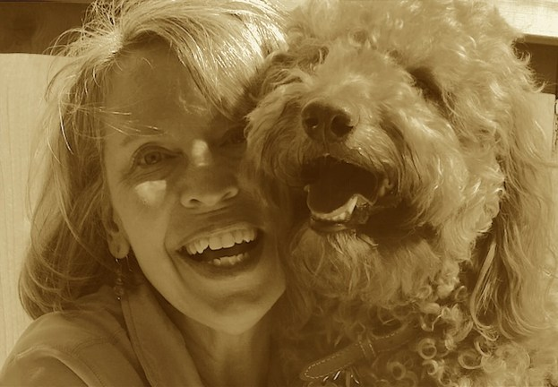 sepia tone photo of Happy-Go-Doodle team