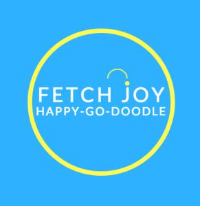 Happy-Go-Doodle logo circle on blue