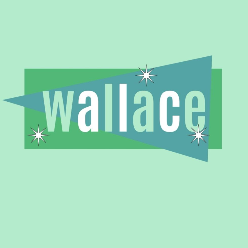 classic name wallace in vintage green design