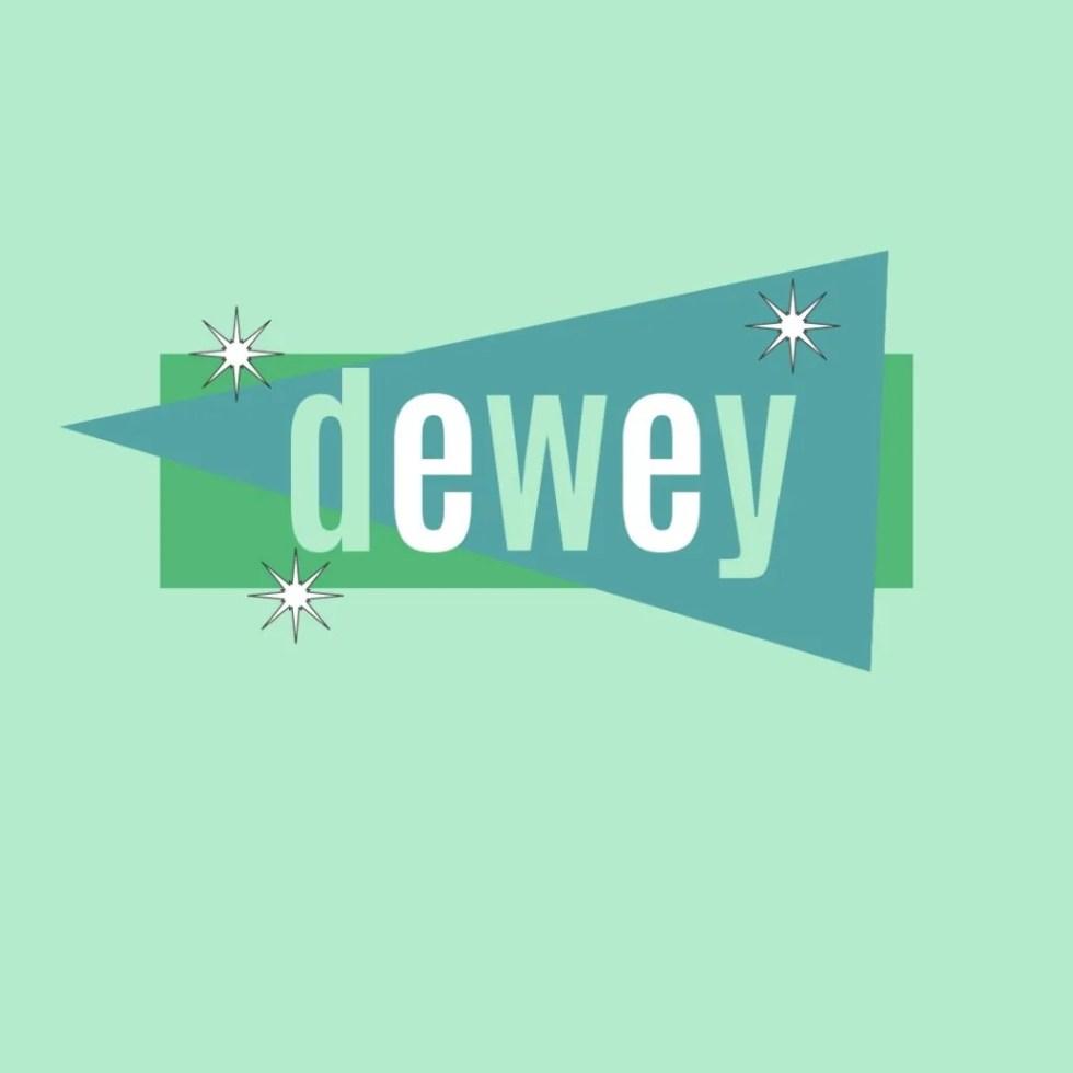name dewey in vintage design