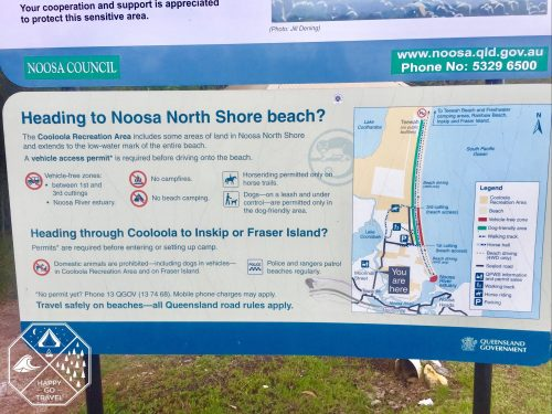 Noosa North Shore beach | Fraser Island | Great Sandy permit | Drive on Noosa Beach