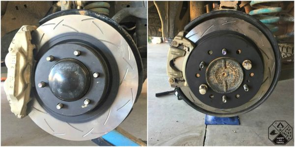 DBA T3 brake rotors. 4WD brake upgrade