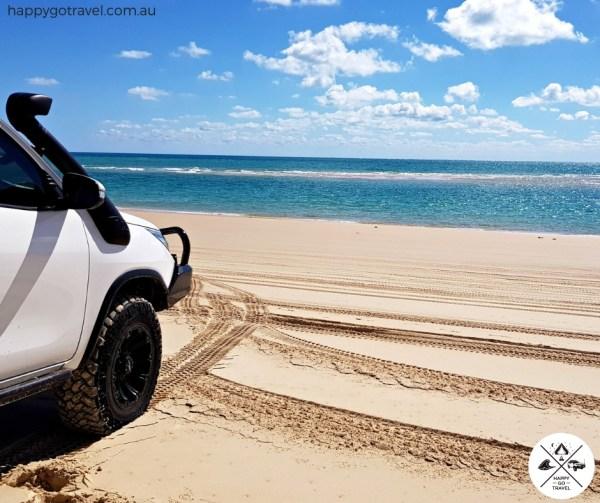 4wd on Fraser Island beach